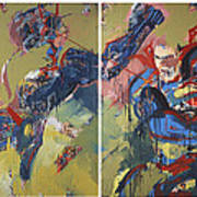 Action Abstraction No. 20 Art Print