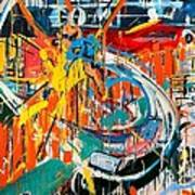 Action Abstraction No. 7 Art Print