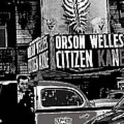 Actor Co-writer Director Orson Welles Premier  Citizen Kane Palace Theater New York  May 1 1941-2014 Art Print