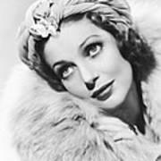 Actress Loretta Young Art Print