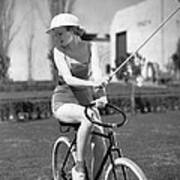 Actress Plays Bike Polo Art Print