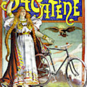 Ad Bicycles, 1898 Art Print