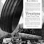 Ad Firestone, 1918 Art Print