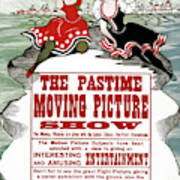 Ad Moving Picture, 1913 Art Print