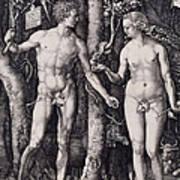 Adam And Eve Engraving Art Print
