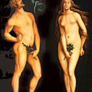 Adam Eve And The Serpent Art Print