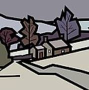Adam's Farm In Winter Art Print by Kenneth North