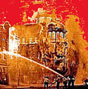 Adams Hotel Fire 1910 Phoenix Arizona 1910-2012 Art Print