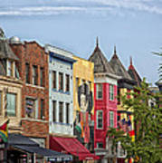 Adams Morgan Neighborhood In Washington D.c. Art Print