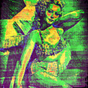 Adele Mara - 1940s Pin Up Art Print