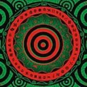 Adinkra Disk Pan-african II Art Print