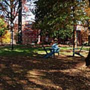 Adirondack Chairs 2 - Davidson College Art Print