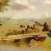 Adirondacks Bridge For Fishing Art Print
