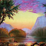 Adirondacks Sunset Art Print