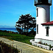 Admiralty Head Lighthouse View  Art Print