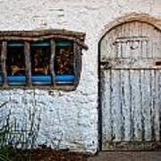 Adobe Door And Window Art Print by Peter Tellone