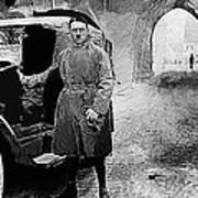 Adolf Hitler Shortly After His Release From Prison With A Mercedes 1924 - 2012 Art Print