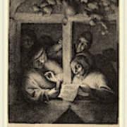 Adriaen Van Ostade Dutch, 1610-1685, The Singers Art Print