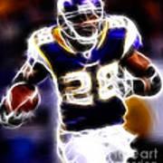 Adrian Peterson 01 - Football - Fantasy Art Print