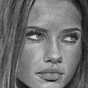 Adriana Lima 2 Art Print