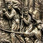 Advancing The Colors - State Of Delaware Monument Gettysburg Detail-a Autumn Mid-day Art Print