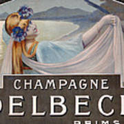 Advertisement For Champagne Delbeck Art Print by Louis Chalon