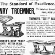 Advertisement Scales Art Print