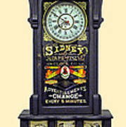 Advertising Clock Art Print