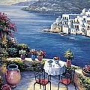 Aegean Vista Art Print by John Zaccheo
