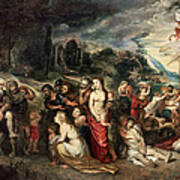 Aeneas And His Family Departing From Troy Art Print