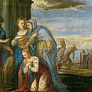 Aeneas Taking Leave Of Dido Art Print