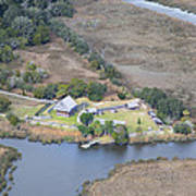 Aerial Jekyll Island Area Art Print