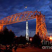 Aerial Lift Bridge Art Print