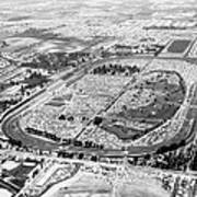 Aerial Of Indy 500 Art Print