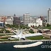 Aerial Of Milwaukee Skyline Art Print