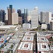 Aerial Of The Houston Skyline Art Print