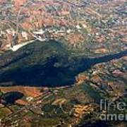Aerial Photography - Hill Like A Big Mouse  Art Print