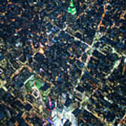 Aerial Photography Of Bloadway In Dusk Art Print