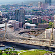 Aerial Shot Of Boston Art Print