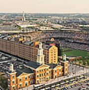 Aerial View Of A Baseball Stadium Art Print