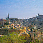 Aerial View Of A City, Toledo, Spain Art Print