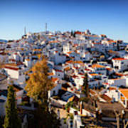 Aerial View Of Comares Village, One Art Print