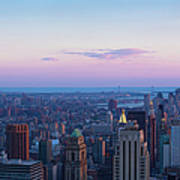 Aerial View Of Empire State And Midtown Art Print
