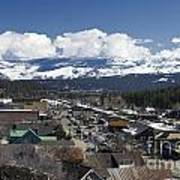 Aerial View Of Historic Downtown Truckee California Art Print