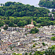 Aerial View Of Keswick In The Lake District Cumbria Art Print