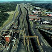 Aerial View Of Large Coal Export Art Print