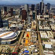 Aerial View Of Los Angeles Art Print
