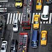 Aerial View Of New York City Traffic Print by Amy Cicconi