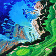 Aerial View Of Pebble Beach Art Print