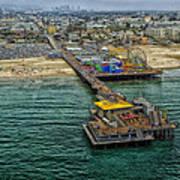 Aerial View Of Santa Monica Pier Art Print